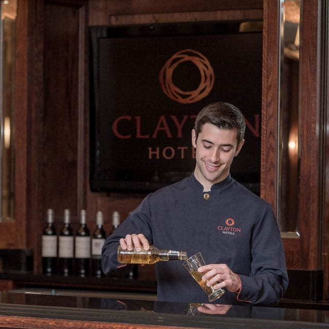 Bar man At Clayton Hotel Cardiff
