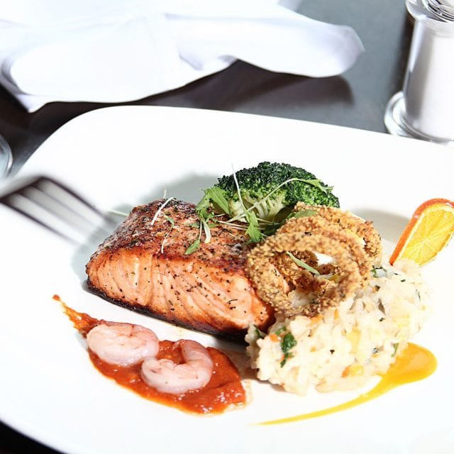 Grilled Salmon at Clayton Hotel Cardiff